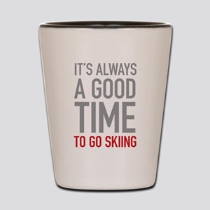 Go Skiing Shot Glass