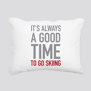 Go Skiing Rectangular Canvas Pillow