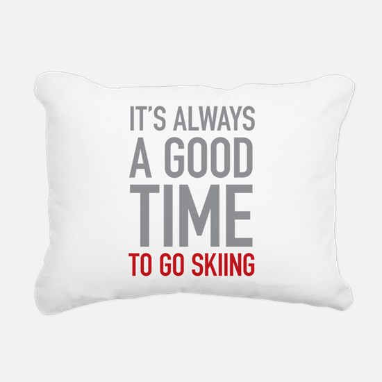 Go Skiing Rectangular Canvas Pillow