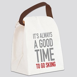 Go Skiing Canvas Lunch Bag