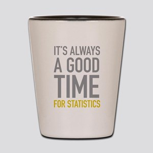 Statistics Shot Glass