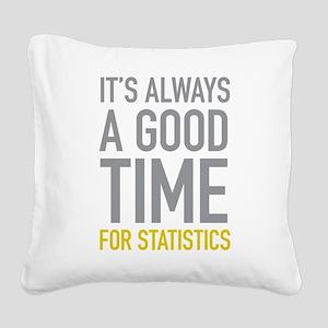 Statistics Square Canvas Pillow