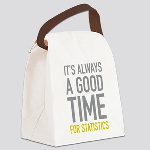 Statistics Canvas Lunch Bag