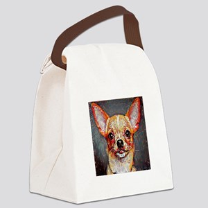 Chihuahua: A Portrait in Oil Canvas Lunch Bag