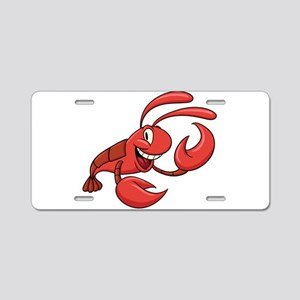 Cartoon red prawn Aluminum License Plate