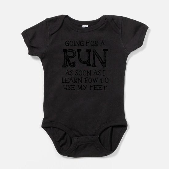 Cute Funny marathon Baby Bodysuit