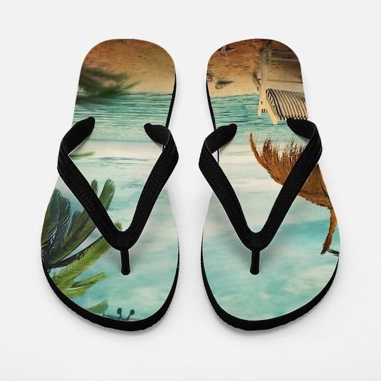 Vintage Beach Flip Flops