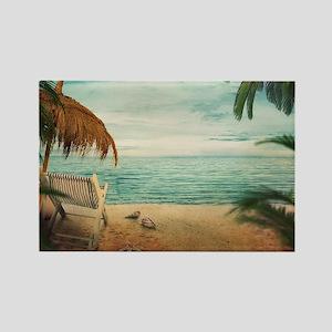 Vintage Beach Magnets