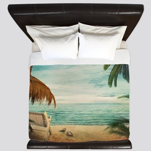 Vintage Beach King Duvet