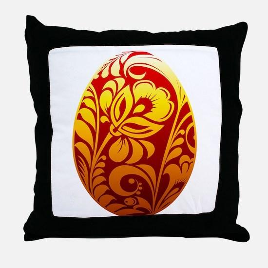 Easter egg design art Throw Pillow