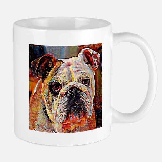 English Bulldog: A Portrait in Oil Mug