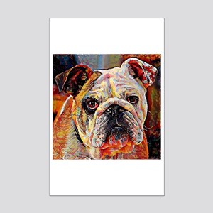English Bulldog: A Portrait in O Mini Poster Print