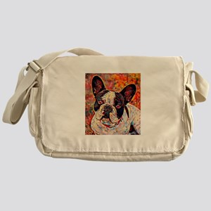 French Bulldog: A Portrait in Oil Messenger Bag
