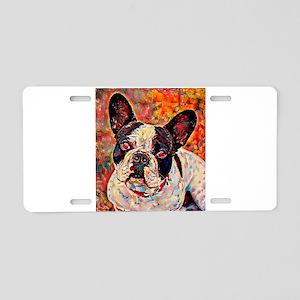 French Bulldog: A Portrait Aluminum License Plate