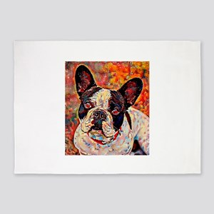 French Bulldog: A Portrait in Oil 5'x7'Area Rug