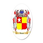Veare Oval Car Magnet