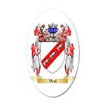 Veal 35x21 Oval Wall Decal