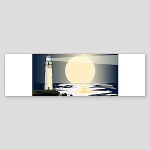 Lighthouse Night Bumper Sticker