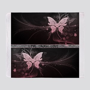 Live laugh love butterfly Throw Blanket