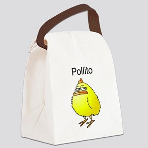 Pollito Malhumorado Canvas Lunch Bag
