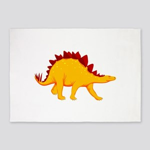 Dinosaur cartoon clip art 5'x7'Area Rug