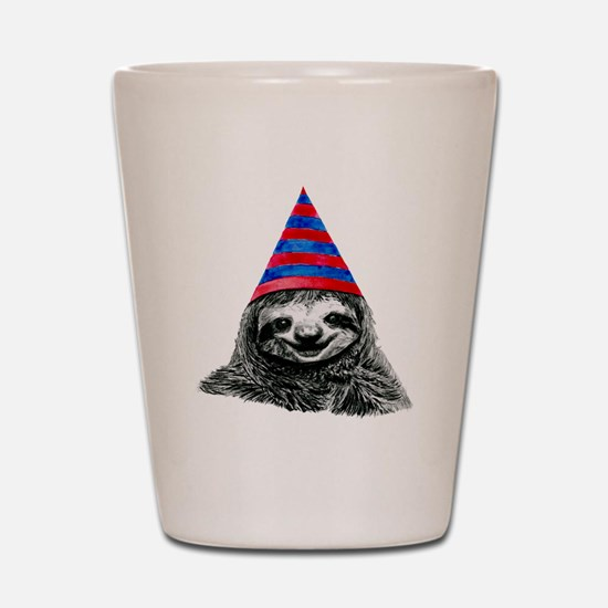 Cool Sloth Shot Glass