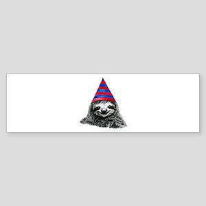 Party Sloth Bumper Sticker