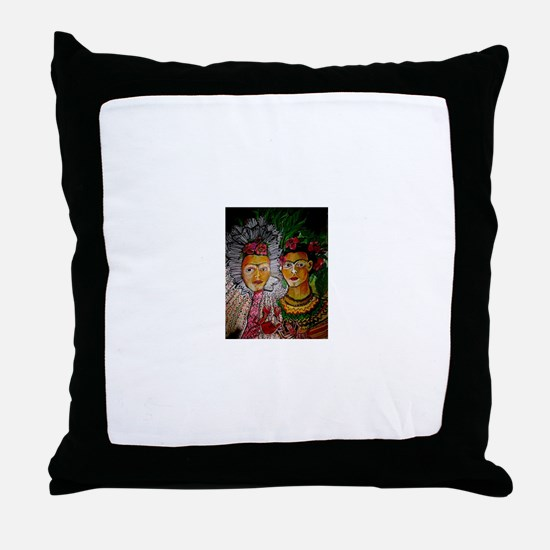 Sisters by Ruth Olivar Millan Throw Pillow