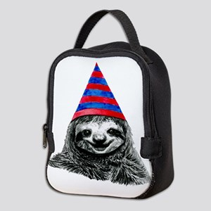 Party Sloth Neoprene Lunch Bag