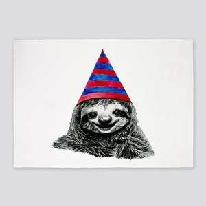 Party Sloth 5'x7'Area Rug