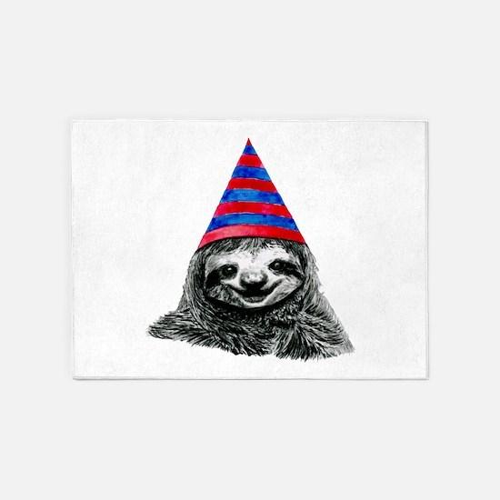 Party Sloth 5'x7'Area Rug