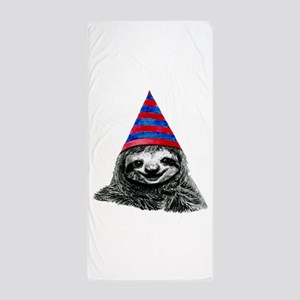 Party Sloth Beach Towel