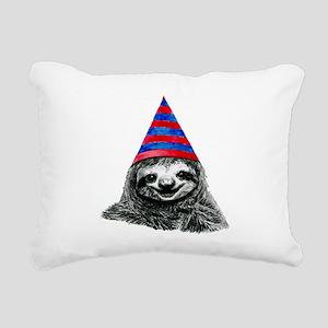 Party Sloth Rectangular Canvas Pillow
