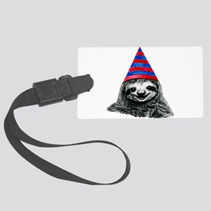 Party Sloth Large Luggage Tag