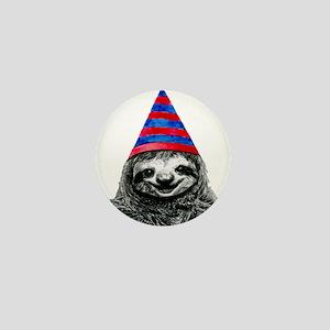 Party Sloth Mini Button