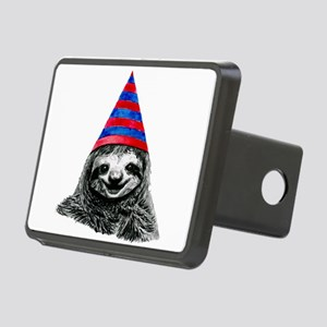 Party Sloth Rectangular Hitch Cover