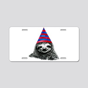 Party Sloth Aluminum License Plate