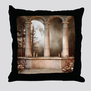 Gothic Marble Columns Throw Pillow