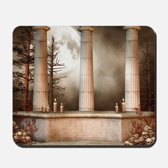 Gothic Marble Columns Mousepad