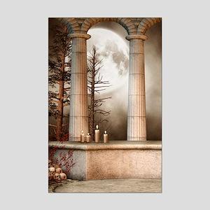 Gothic Marble Columns Mini Poster Print