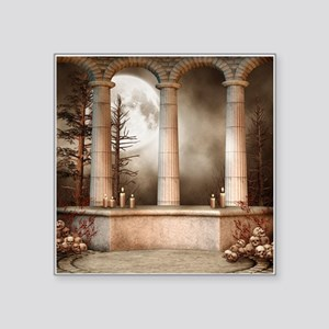 "Gothic Marble Columns Square Sticker 3"" x 3"""