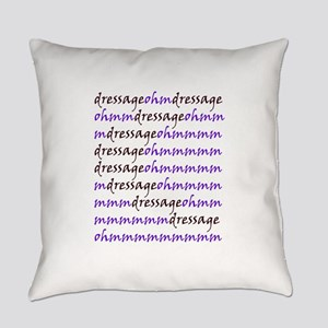 dressage ohm purple Everyday Pillow