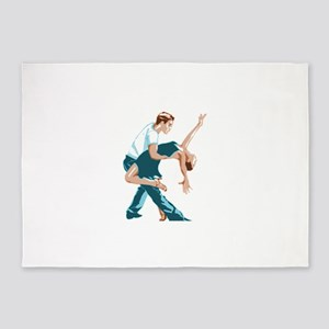 Salsa Dancers in two-tone color 5'x7'Area Rug