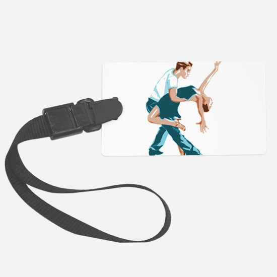 Salsa Dancers in two-tone color Luggage Tag