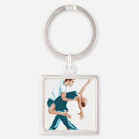 Salsa Dancers in two-tone color Keychains