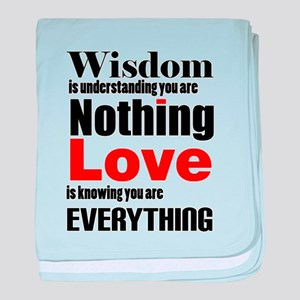 Wisdom and Love baby blanket