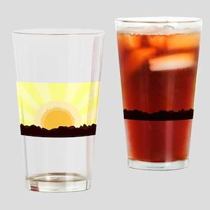 Sunset Drinking Glass