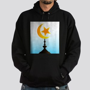 Crescent Moon and Star With Sky Hoodie (dark)