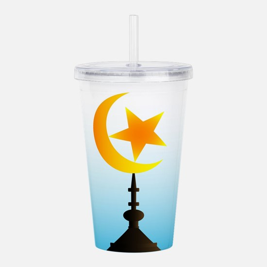 Crescent Moon and Star Acrylic Double-wall Tumbler