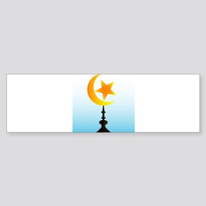 Crescent Moon and Star With Sky Bumper Sticker